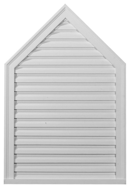 """24""""W x 28""""H Peaked Gable Vent Louver, Functional modern-registers-grilles-and-vents"""