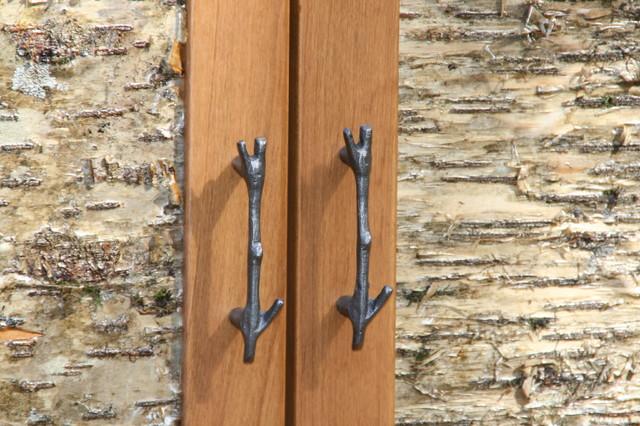 Bark House® Veneer Laminates - Yellow Birch Cabinet Panel Insert - Rustic - Kitchen Cabinetry ...