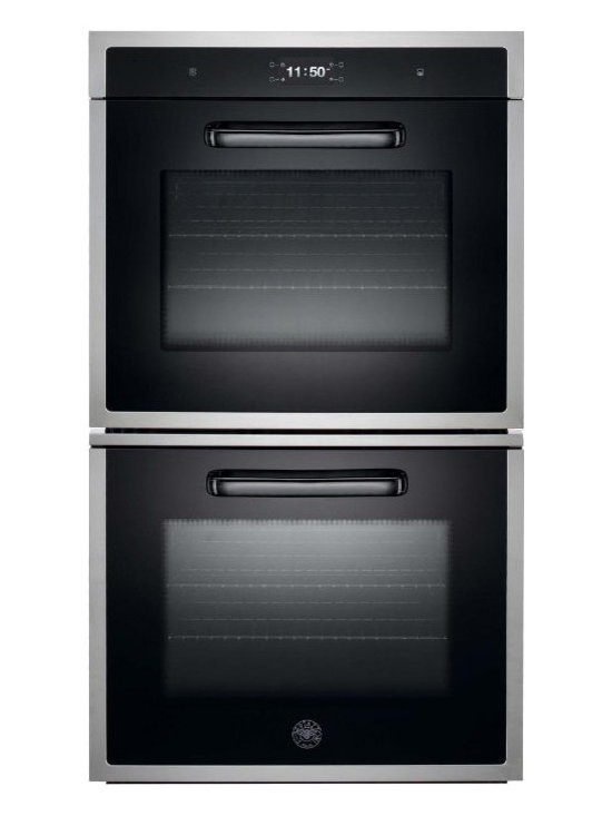 "Bertazzoni 30"" Design Series Double Electric Wall Oven, Stainless 