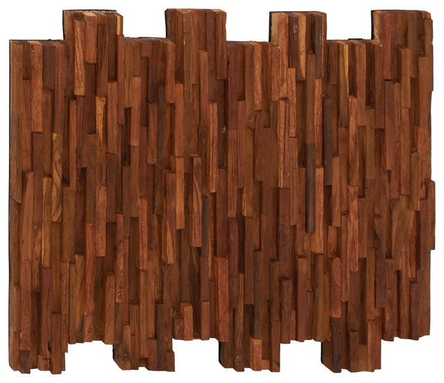 Unique And Contemporary Style Wood Teak Wall Panel Home