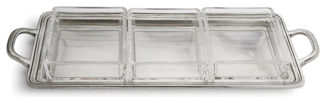 Tavola Medium Rectangular Divided Dish Farmhouse