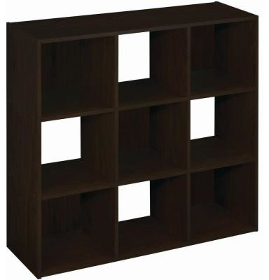 Martha Stewart Living 36 In X 36 In Espresso Stackable 9 Cube Organizer 490