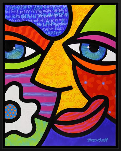 """""""Sabrina Starr"""" Framed Art Print contemporary-artwork"""