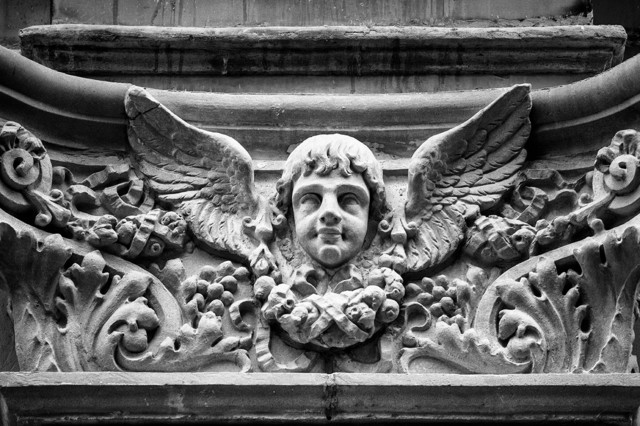 """Winged Cherub Architectural Detail 16 x 24 inches"" Artwork contemporary-originals-and-limited-editions"