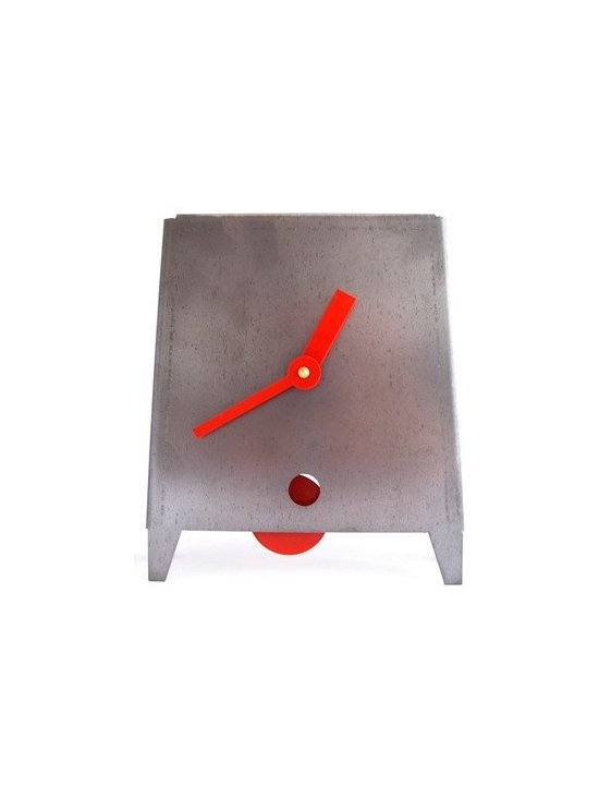 Acero Clock - Red -