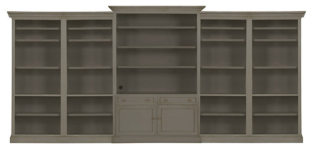 Josephina Classic 5 Piece Large Wall Unit traditional-bookcases