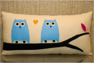 Stella and Petey Owl Pillow eclectic-decorative-pillows