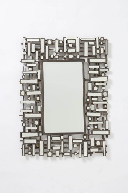 Pieced Geom Mirror modern mirrors