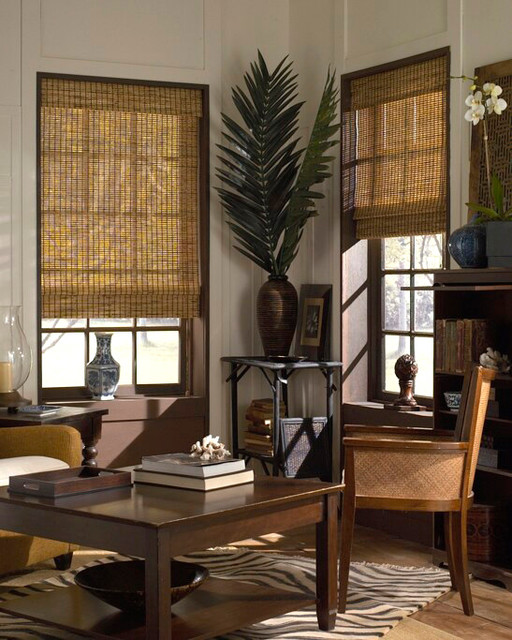 Basic Woven Wood Shades eclectic-roman-shades