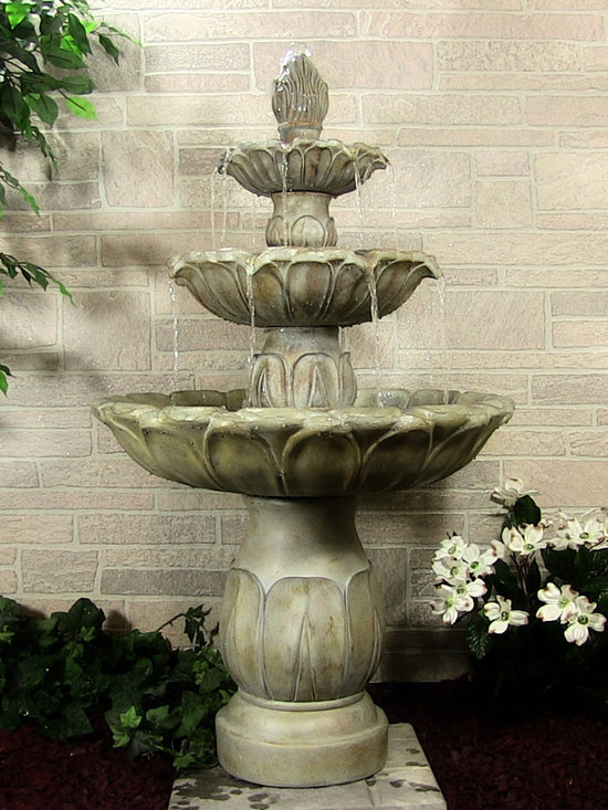 Outdoor Classics - Classic Tulip 3 Tier Fountain -