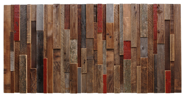 Reclaimed Wood Wall Art 48 Quot X24 Quot X2 Quot Made Of Old Barn Wood