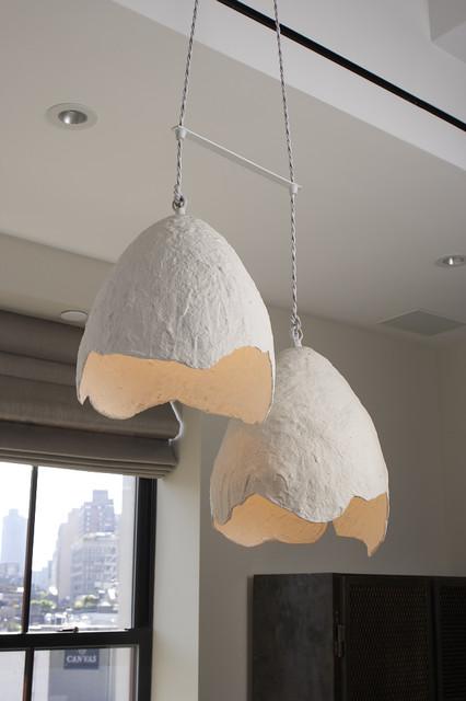 Cream Egg Lights modern-chandeliers