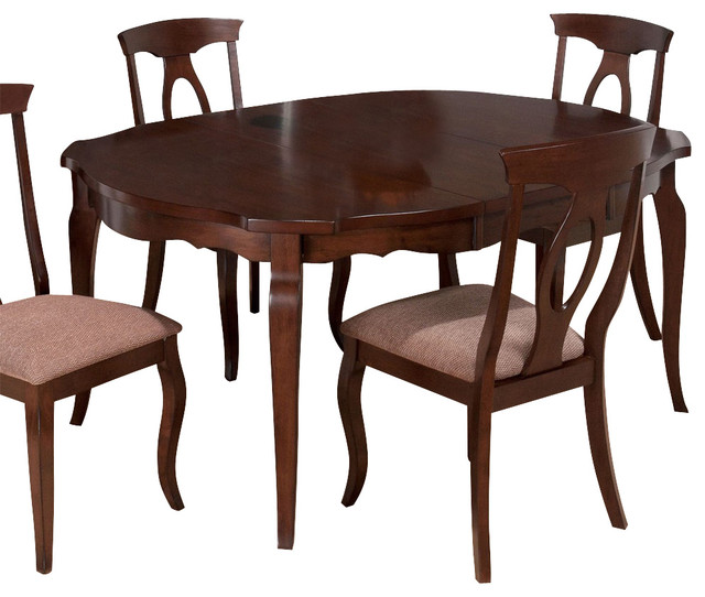 Jofran corsica cherry 48 inch round dining table w for 48 dining table with leaf