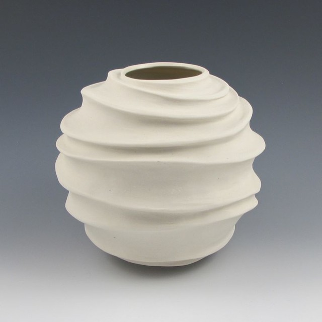Contemporary Pottery From Modern White Vase