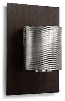 Barbara Cosgrove BCL Sconce Lamp with Wood Back Plate, Pair traditional-wall-lighting