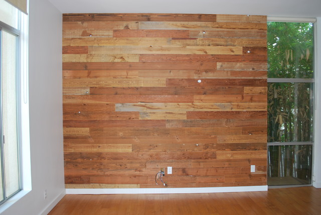 Custom Reclaimed Wood Accent Wall Rustic San Diego By