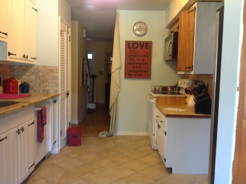 Need help opening galley kitchen to dining room for Galley kitchen open to dining room