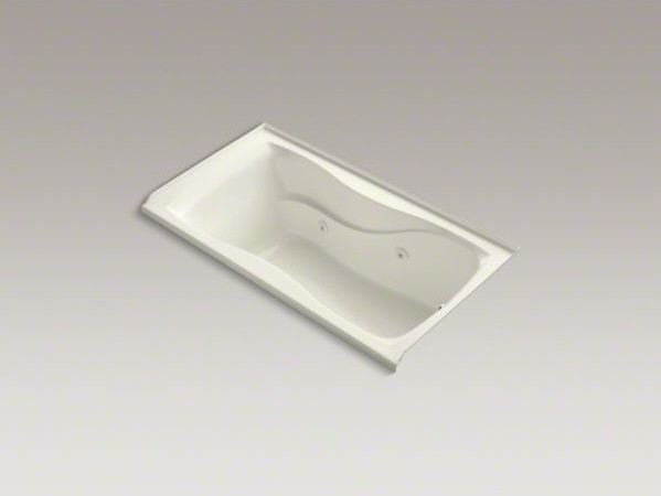 """KOHLER Hourglass(R) 60"""" x 32"""" alcove whirlpool with integral tile flange, right- contemporary-bathtubs"""