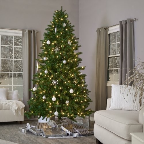 ... lit Christmas Tree - Contemporary - Holiday Decorations - by Hayneedle