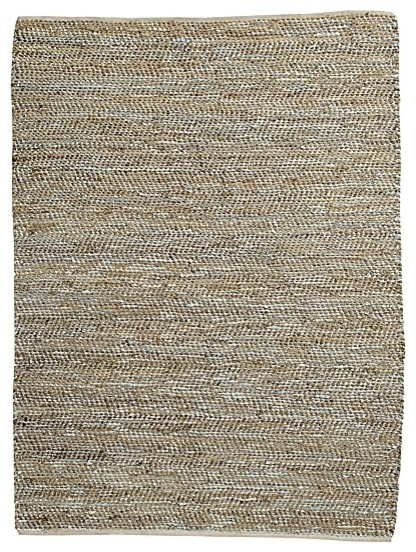 Metallic Suede & Hemp Rug contemporary-rugs