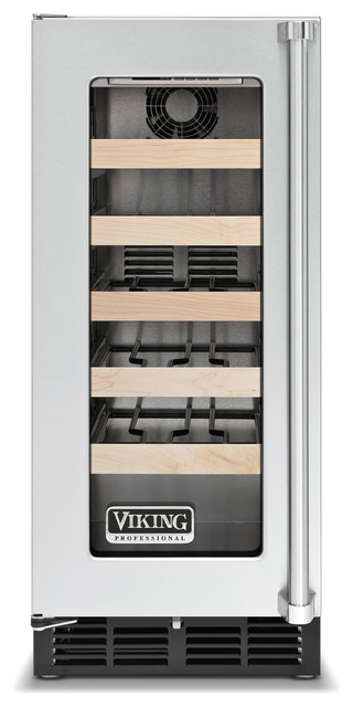 "Viking 15"" Undercounter Wine Cellar, Stainless Steel Left Hinge 