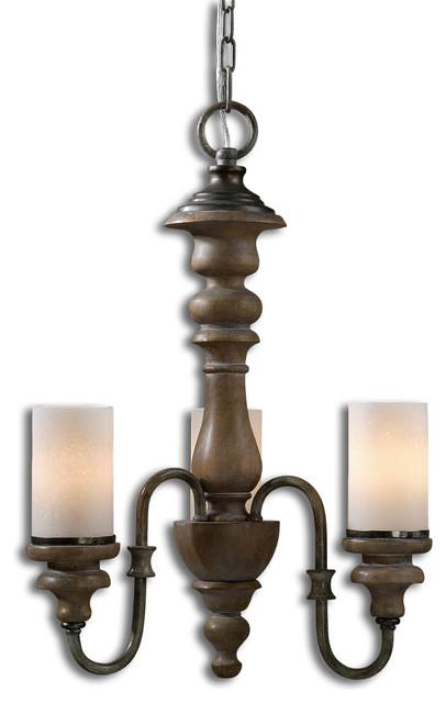 Torreano 3-Light Wooden Chandelier traditional-chandeliers