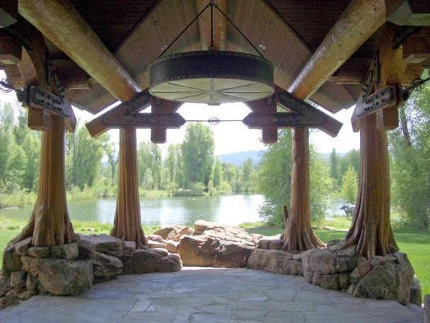 Luxury Estate Featuring Grand Teton View traditional