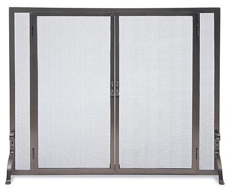 Full height fireplace screen large traditional fireplace screens - Houzz fireplace screens ...