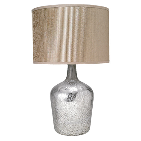 Jamie young co plum jar table lamp in mercury glass for Glass jar floor lamp