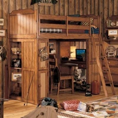Log cabin loft bedroom ideas furnitureplans for Cabin loft bedroom ideas