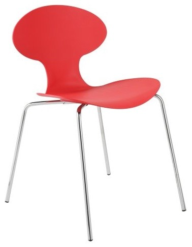 Euro Style Becky Stacking Dining Chairs - Set of 4 - Red contemporary-dining-chairs