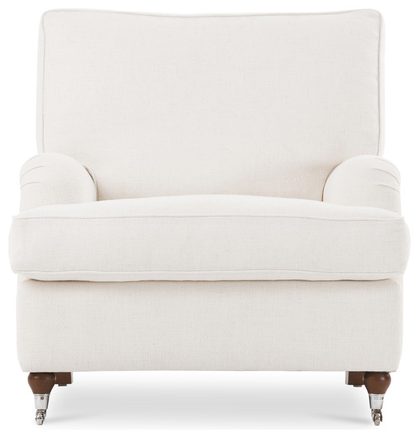 Edward White Armchair Contemporary Armchairs And