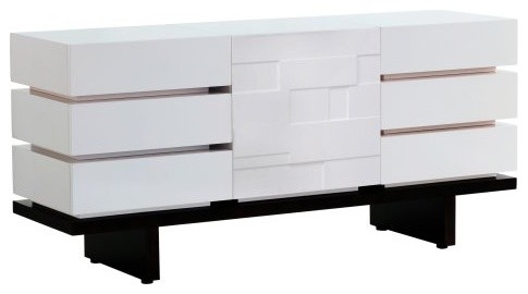 Nurseryworks Three Wide Dresser - Square/Dark contemporary-dressers-chests-and-bedroom-armoires
