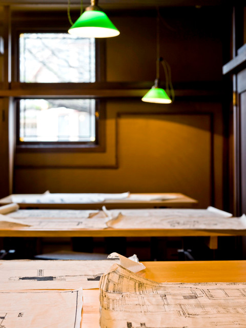 Frank Lloyd Wright Home & Studio traditional-home-office