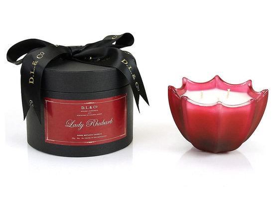 Signature Scallop Candle, Lady Rhubarb -