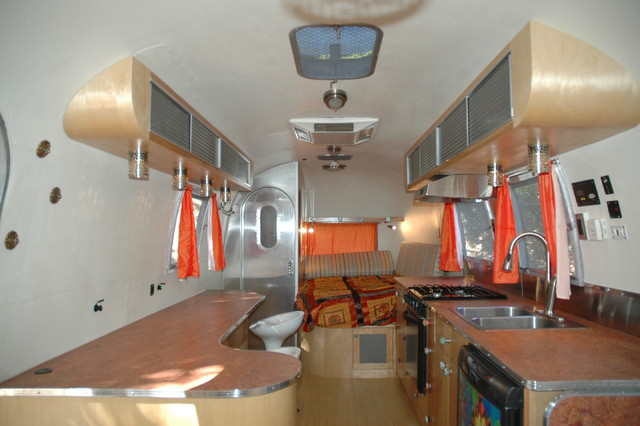 Vintage Airstream Trailer Remodel Eclectic Kitchen