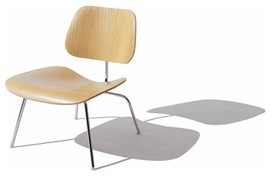 Herman Miller | Eames® Molded Plywood Lounge Chair with Wood Legs, Upholster modern-chairs