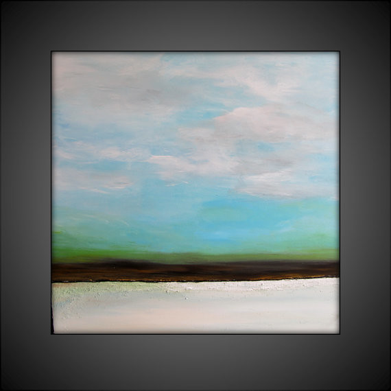 CUSTOM Large Original Abstract Canvas Contemporary/Modern Painting - 36x36 - Tex contemporary-originals-and-limited-editions
