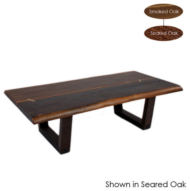 Kava Coffee Table Seared Oak Large Eclectic Coffee Tables By Inmod