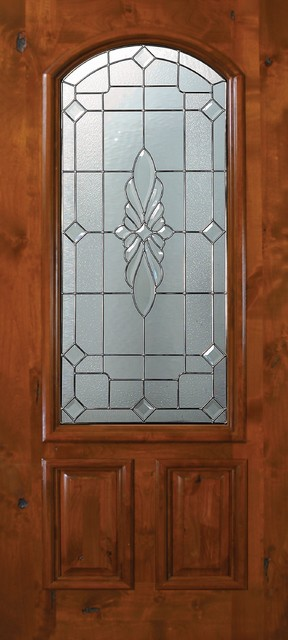 Slab entry single door 80 alder versailles 2 panel arch for Single front entry doors