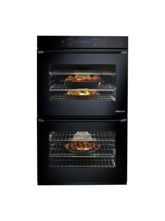 """Dacor Renaissance 30"""" Double Electric Wall Oven, Black 
