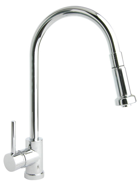 Giagni Pro PK1 Contemporary Pull Down Kitchen Faucet - Instantly update your kitchen and bring modern functionality to you fingertips with the Pro Series Pull-Down Faucets.  The uncomplicated design and the clean lines harmonize perfectly with any modern decor while each faucet remains its own expression of elegance and beauty.