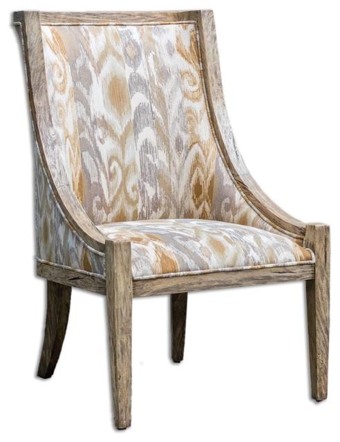 Uttermost Alabaster Driftwood Accent Chair - Farmhouse - Armchairs And Accent Chairs - by Uttermost
