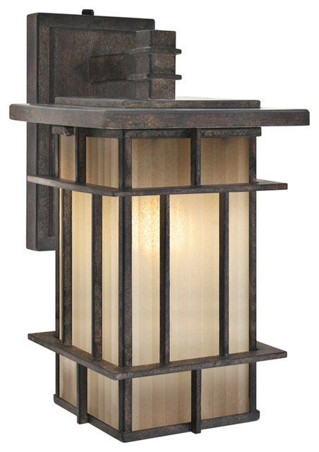 """Arts and Crafts - Mission Tuscon ENERGY STAR 12 1/4"""" High Outdoor Wall Ligh modern-outdoor-lighting"""
