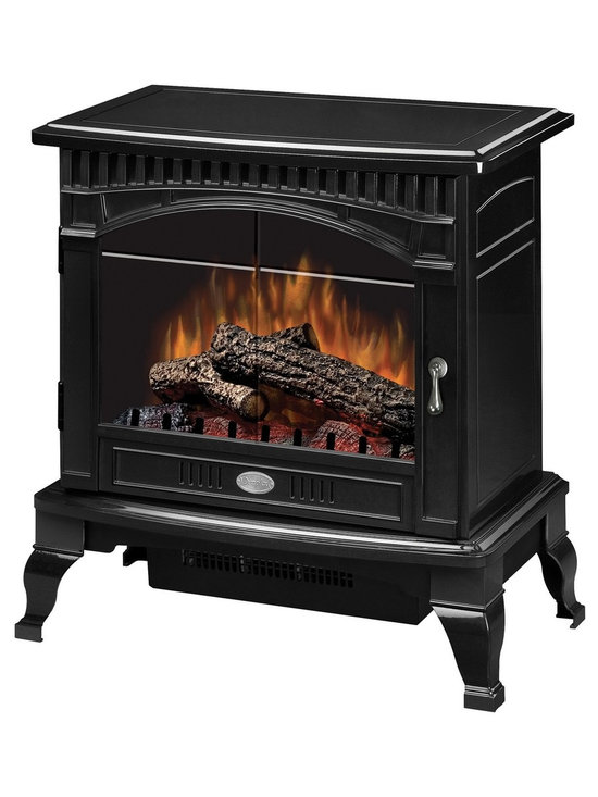 """Dimplex Gloss Black Traditional I Electric Stove - Dimensions: 25"""" x 26-1⁄2"""" x 15-1⁄2"""""""