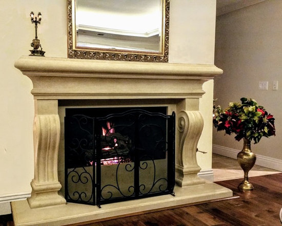 Monterey Cast Stone Fireplace Mantel -