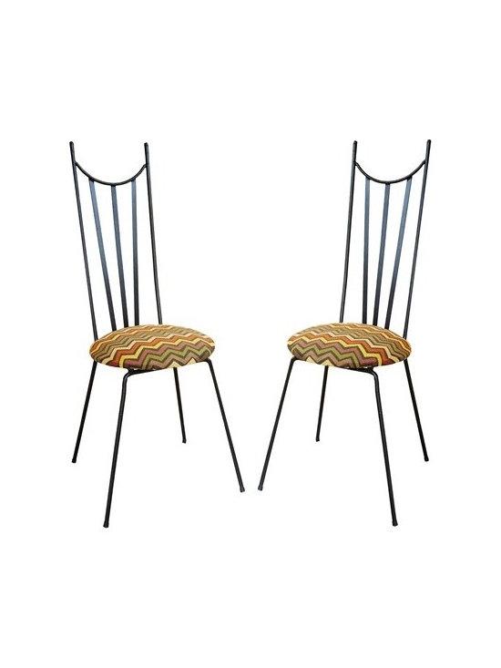 Pair of Mid Century Steel Chairs -