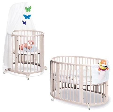 Sleepi Bassinet  and Crib Set in White modern-cribs