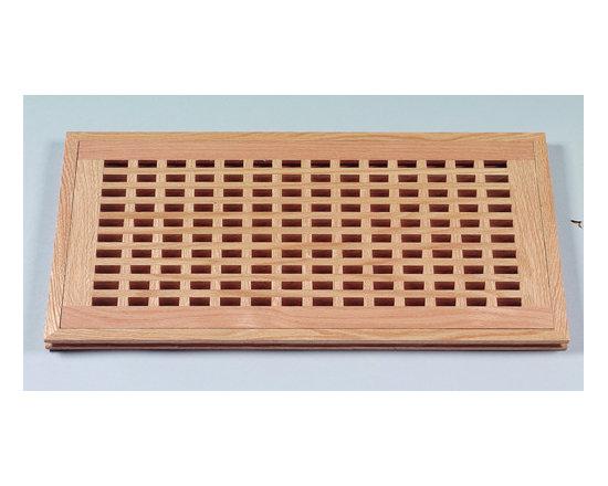 Wood Vents - Ridgefield Eggcrate Style Flush Vent