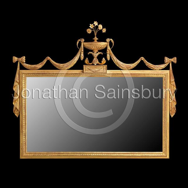 Hepplewhite Overmantel Mirror traditional-mirrors